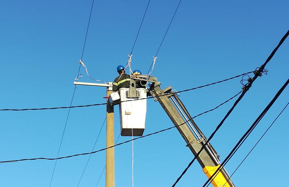 Trabajos de energía eléctrica