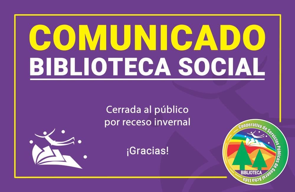 Biblioteca Social – Receso Invernal