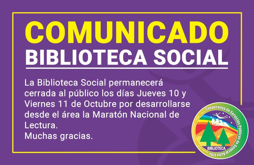 Comunicado: Biblioteca social