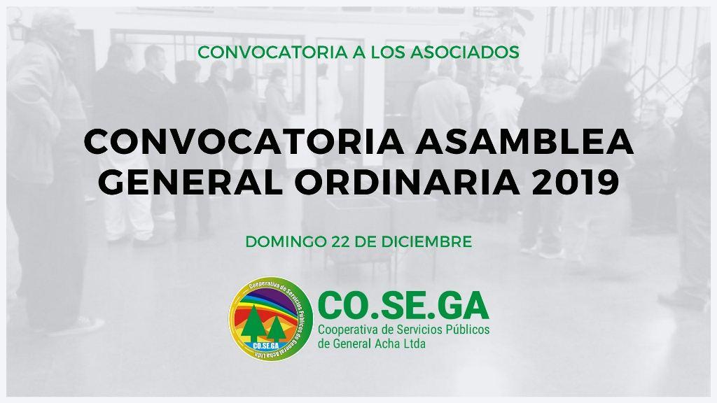 Convocatoria Asamblea General Ordinaria 2019