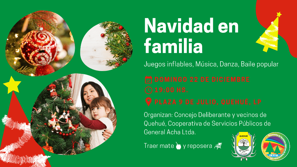 Navidad en familia, en Quehué