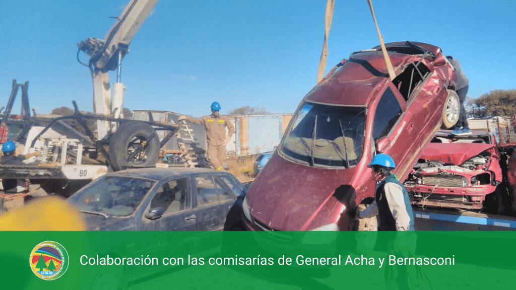 Colaboración con las comisarías de General Acha y Bernasconi