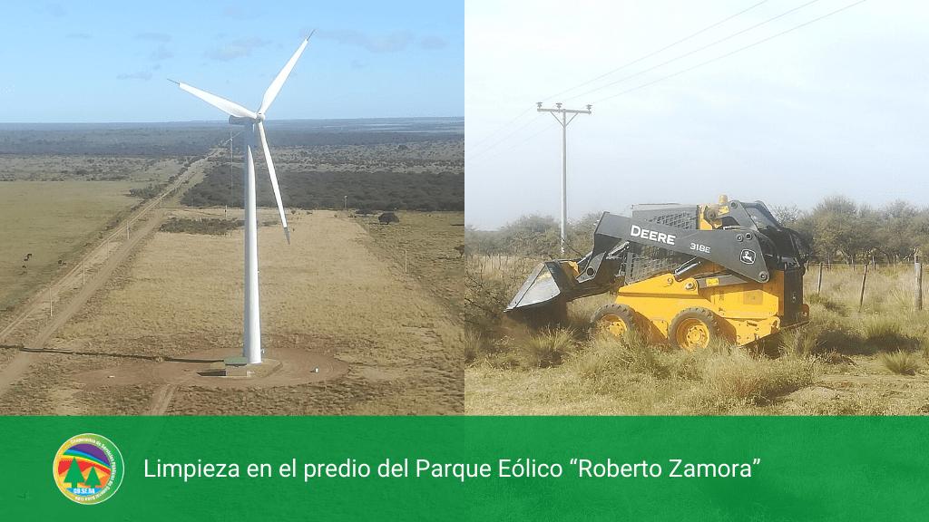 Limpieza en el predio del Parque Eólico «Roberto Zamora»