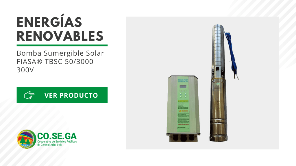 Bomba Sumergible Solar FIASA® TBSC 50/3000 300V