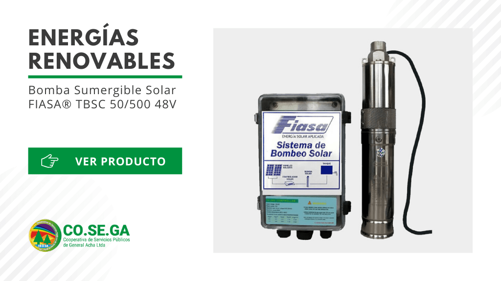 Bomba Sumergible Solar FIASA® TBSC 50/500 48V
