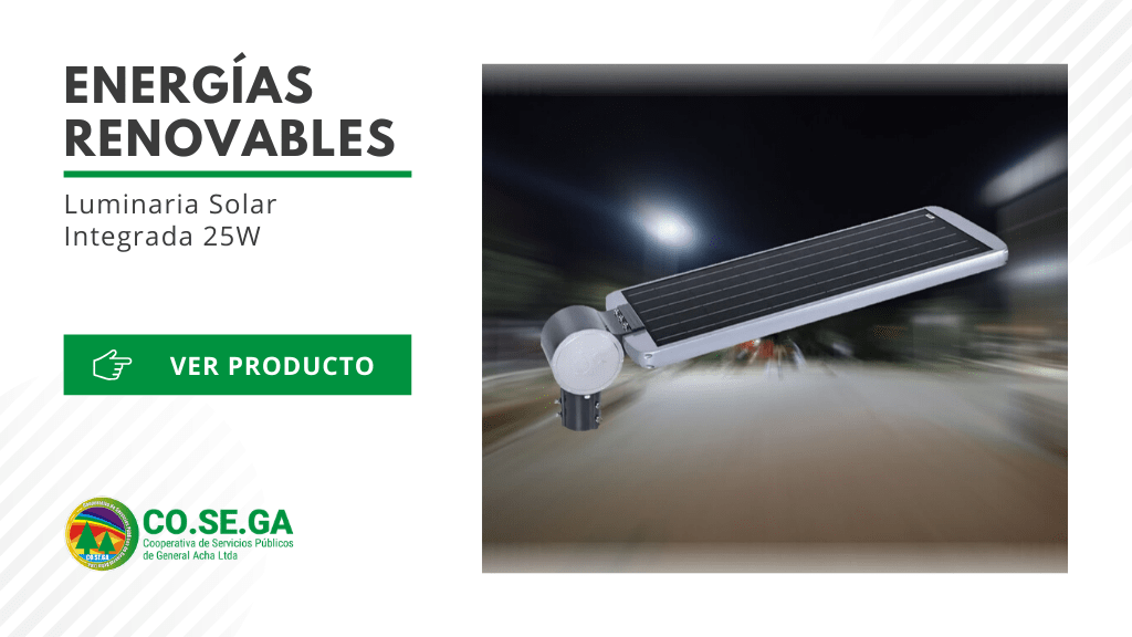 Luminaria Solar Integrada 25W