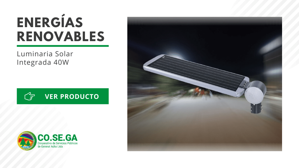 Luminaria Solar Integrada 40W