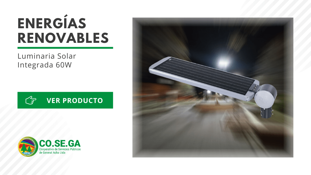 Luminaria Solar Integrada 60W