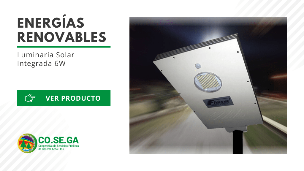 Luminaria Solar Integrada 6W