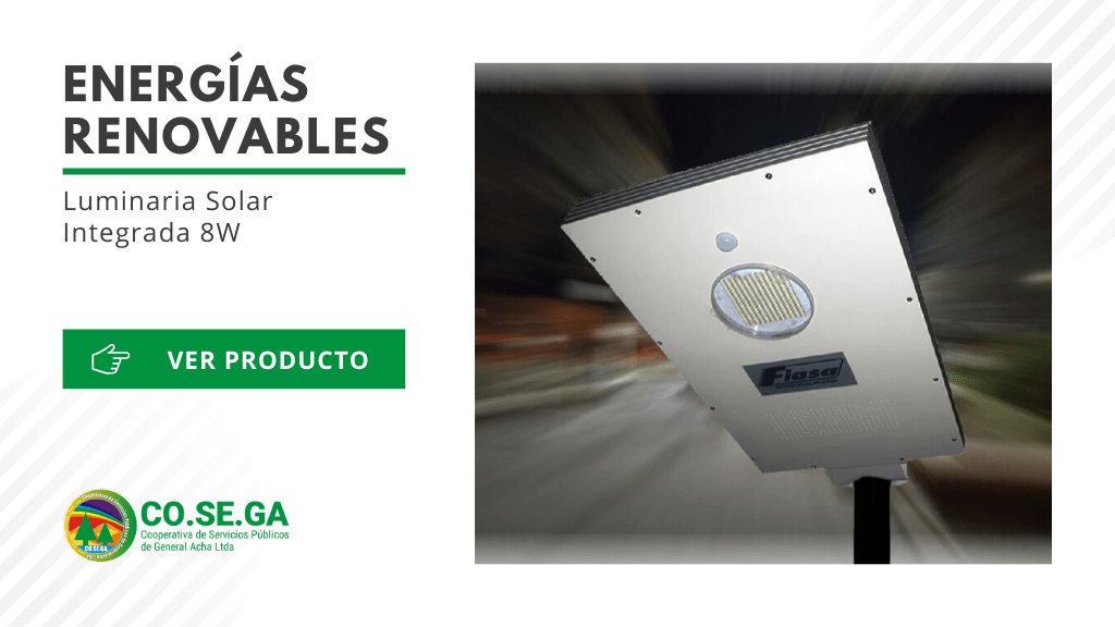 Luminaria Solar Integrada 8W