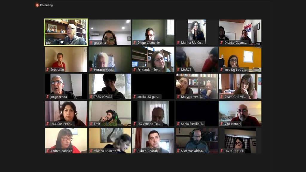 Reunión virtual con Aldea Educativa