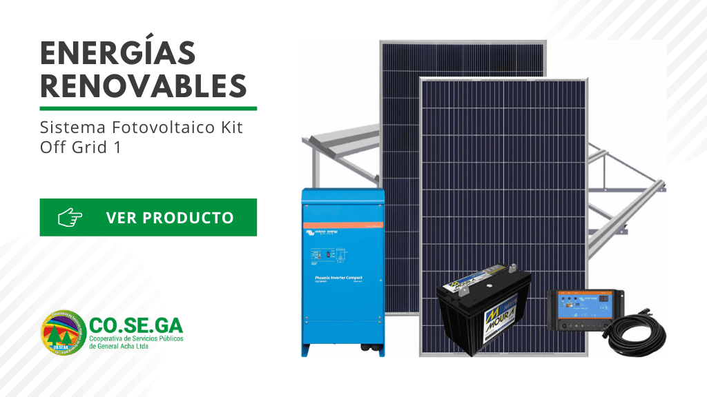 Sistema Fotovoltaico Kit Off Grid 1