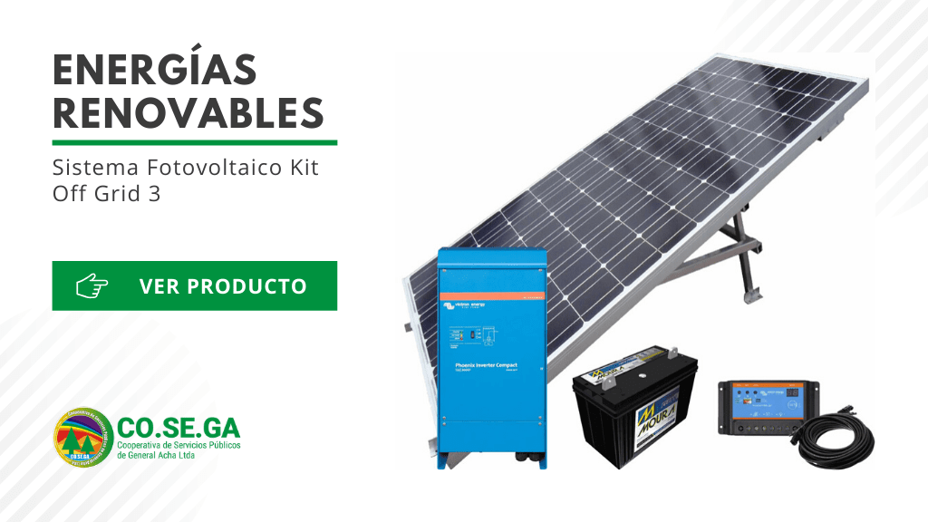 Sistema Fotovoltaico Kit Off Grid 3