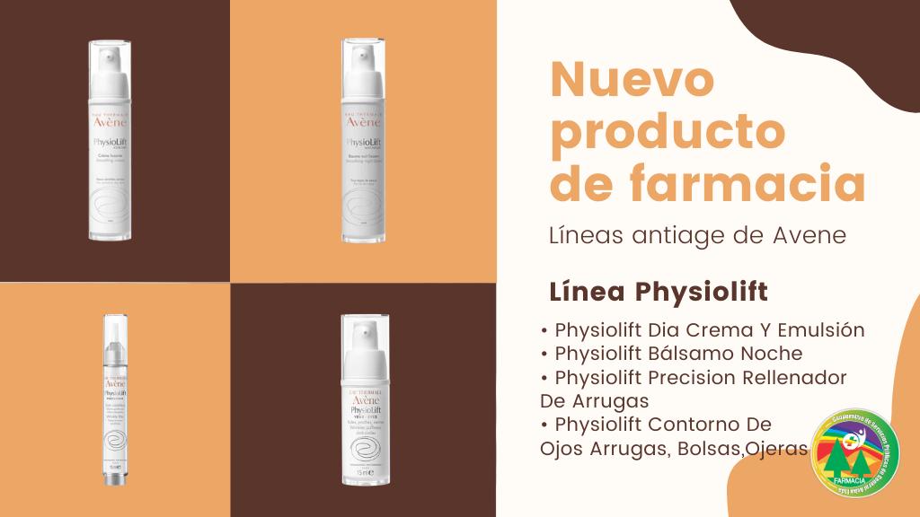 Nuevo producto de Farmacia: Cuidados Faciales Antiage – Linea Physiolift de Avene