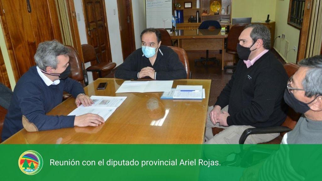 Reunión con el diputado provincial Ariel Rojas