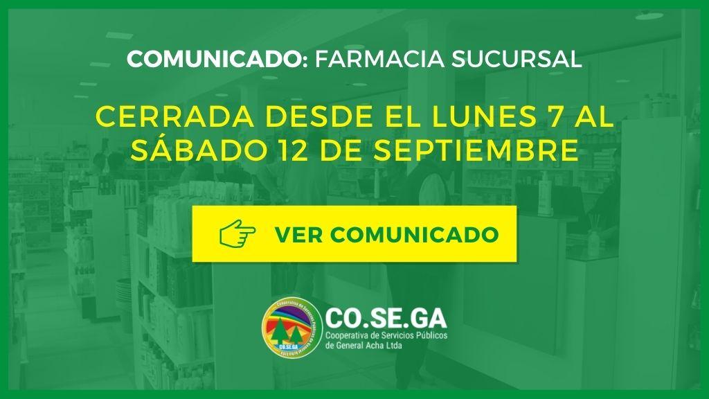 Comunicado: Farmacia Sucursal