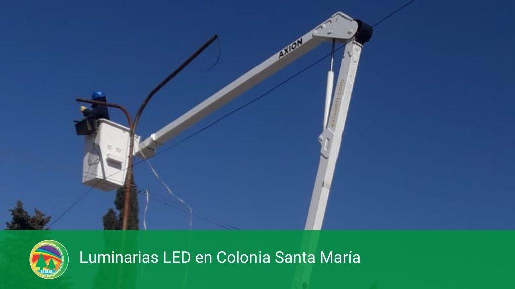 Luminarias LED en Colonia Santa María