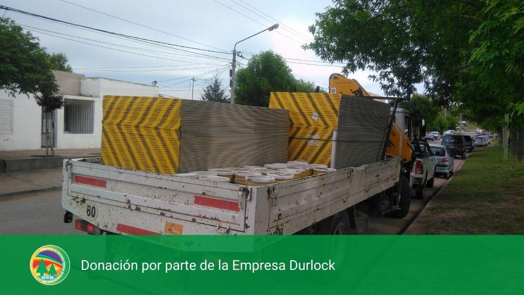 DONACIÓN POR PARTE DE LA EMPRESA DURLOCK