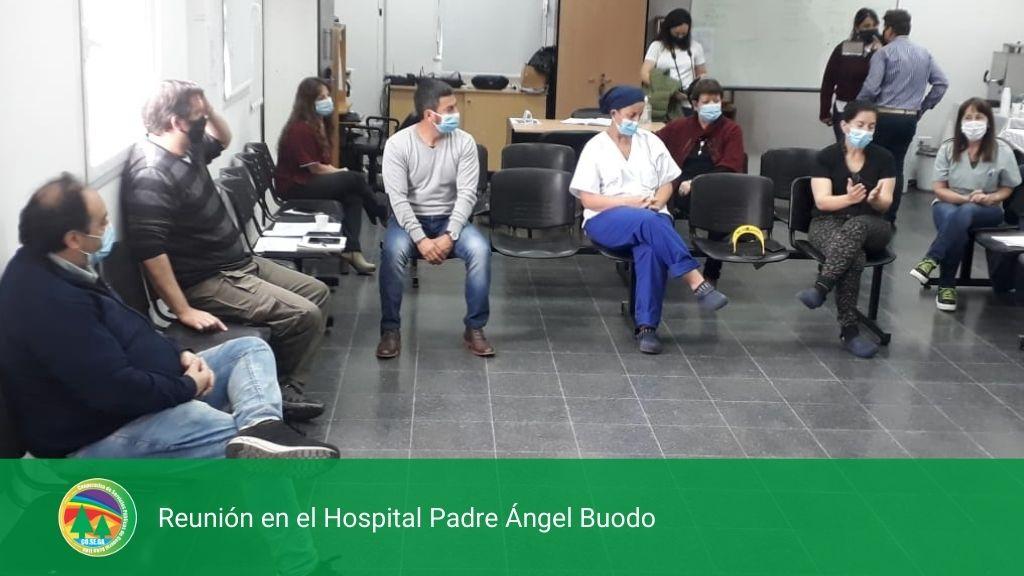 REUNIÓN EN EL HOSPITAL PADRE ÁNGEL BUODO