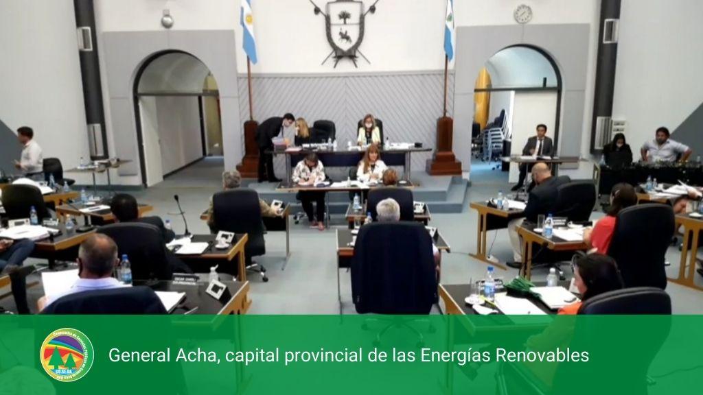 GENERAL ACHA, CAPITAL PROVINCIAL DE LAS ENERGIAS RENOVABLES.