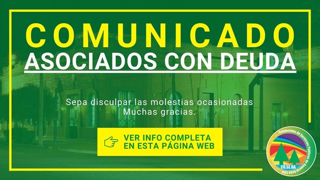 Comunicado: Asociados con Deuda.