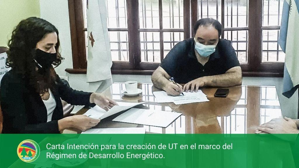 Carta Intención para la creación de UT en el marco del Régimen de Desarrollo Energético.