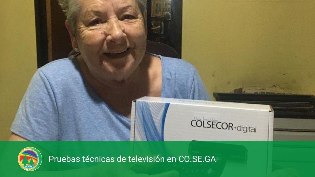 Pruebas técnicas de televisión en CO.SE.GA.