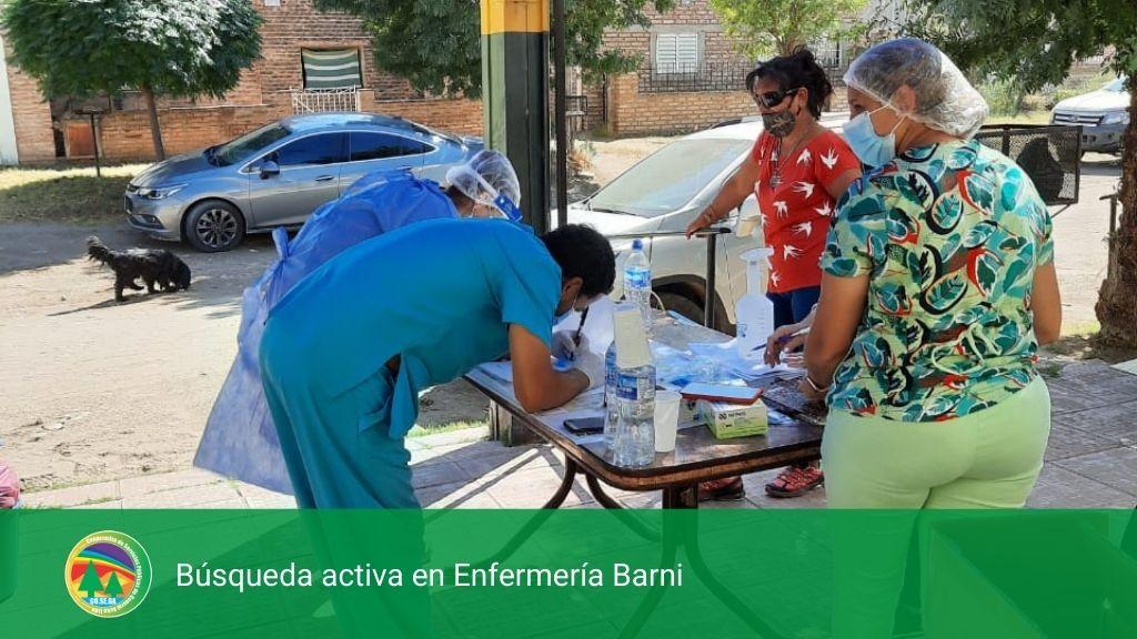 Búsqueda activa en Enfermería Barni.