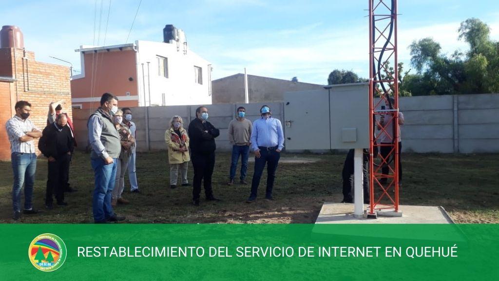RESTABLECIMIENTO DEL SERVICIO DE INTERNET EN QUEHUÉ.