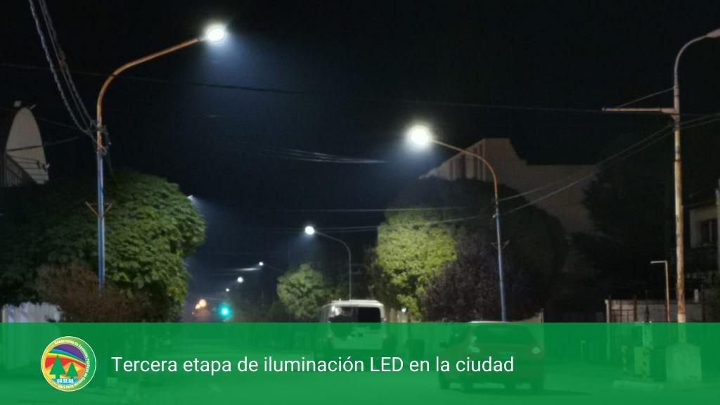 Tercera etapa de iluminación LED en la ciudad.
